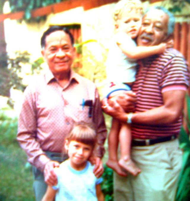 Mr. Roberto Hung and his eldest brother Miguel Hung with Grandchildren Brittany Hung and Mike Hung