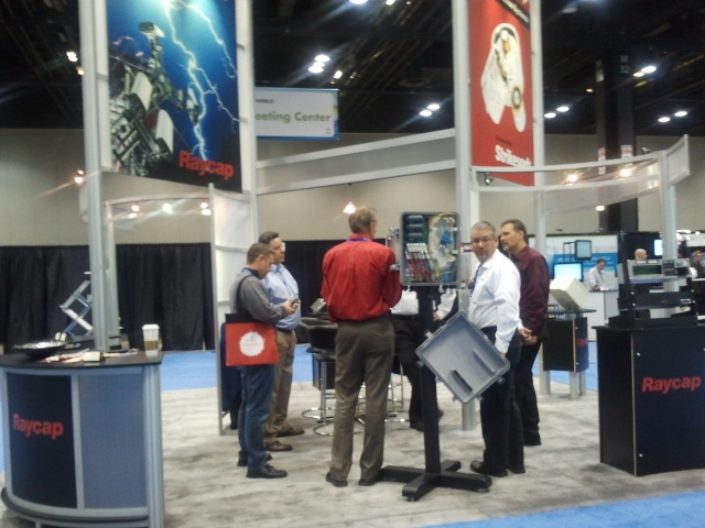 Raycap Vendors meet at the 4G World Conference Expo held at the McCormick Place Convention Center in Chicago, Illinois USA