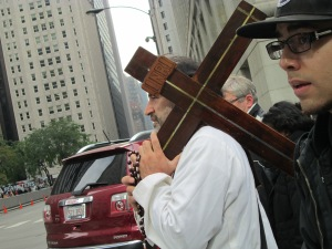 Jesus Christ Carrying A Cross in Chicago