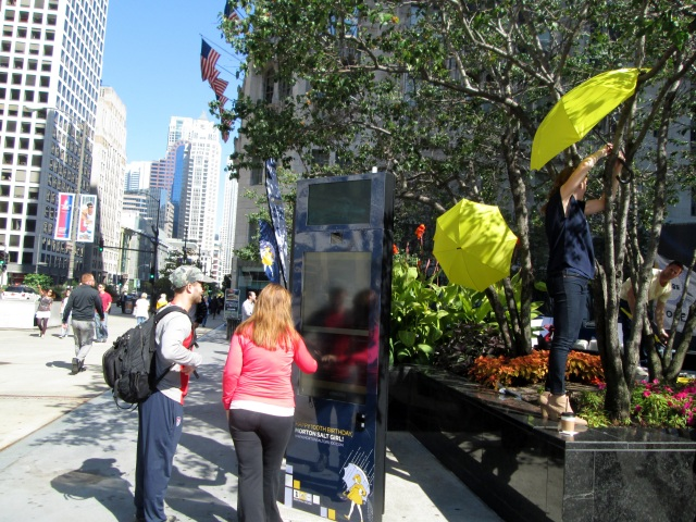 Morton Salt Girl Photo Booth On Michigan Avenue By The Pioneer Court