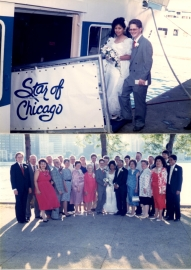 Gardenia C. Hung & Nathan S. Wittler Boarding The Star of Chicago, Navy Pier, Summer 1988